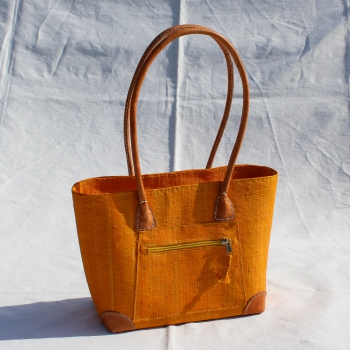"Bast-Handtasche ""Vero"" orange"